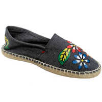 Mens Jeans Blue Embroidery Loafer Shoes