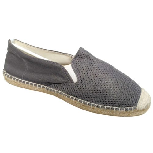 Mens Mesh Gray Loafer Shoes