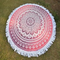 Indian Star Mandala Round Beach Towel Roundie