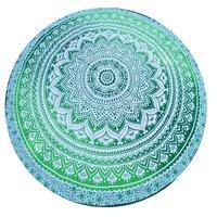Handmade Printed Beach Yoga Mats Round Tapestry Roundie