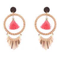 Girls Hoop Tassel Earrings