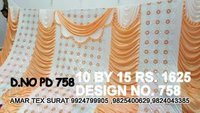 Latest wedding parda sidewall fabric