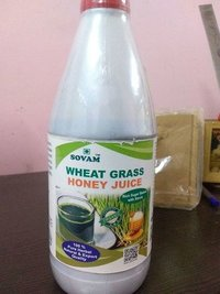 Wheatgrass with honey juices
