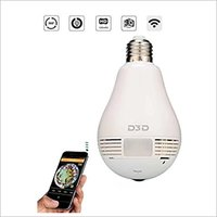 LED Bulb 360 Fisheye IP Camera
