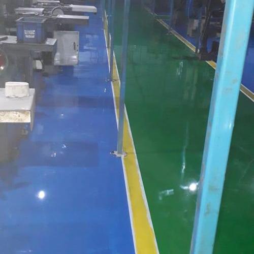 Epoxy Yellow Strip Flooring Services