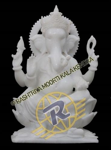 White Marble Ganesh Sclupture