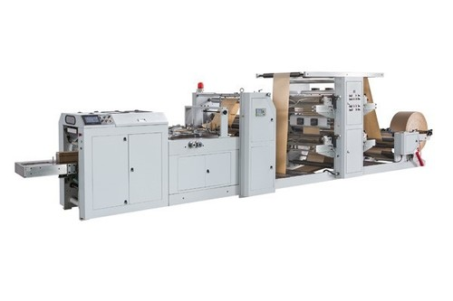 Automatic High Speed Paper Bag Machine With Flexo Printing Machine