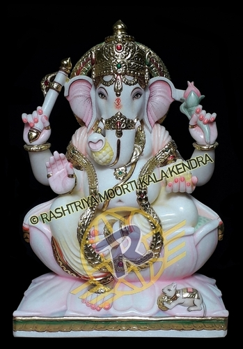 Worship Marble Ganesh Statue