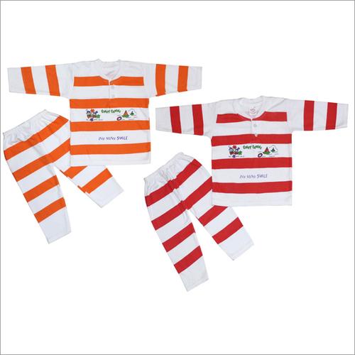 Baby Suit Coloured Strip Orange Color
