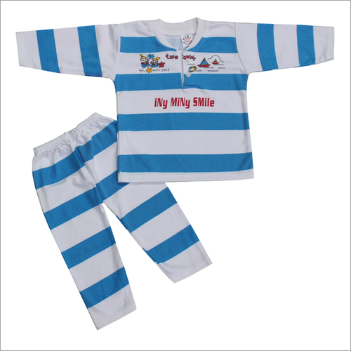 Baby Suit Coloured Strip Red