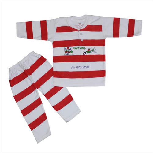 Baby Suit Coloured Strip Red Blue Color