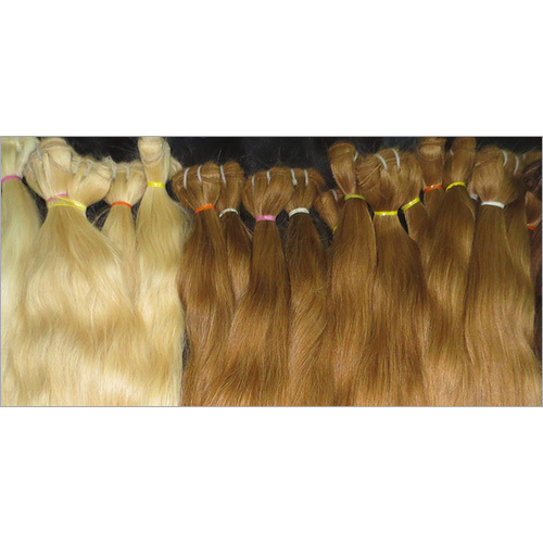 Blonde human Hair Extension