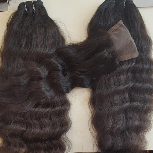 Temple wavy hair extension