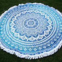 Yoga Mat for Beach Gift and Home Use Round Tapestry Roundie