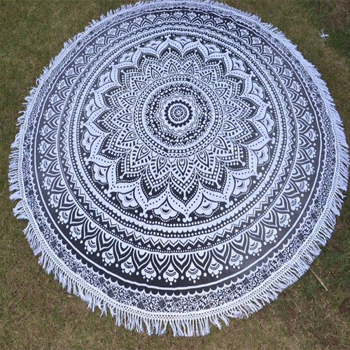 Ombre Design Handmade Home Textile Beach Mat Yoga Mat Round Tapestry Roundie