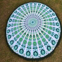 Indian Beach Towel Cotton Fabric Handmade  Roundie Tapestry