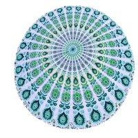 Indian Beach Towel Cotton Fabric Handmade  Roundie Tapestry