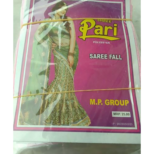 Terry Coat Polyester Saree Fall