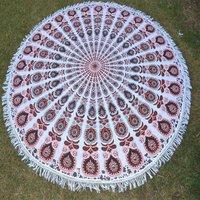 Bohemian Boho Mandala Yoga Mat Beach Towel Roundie Tapestry