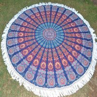 Beach Towel with Tassels Bohe Hippie Hippy Roundie Yoga Mat Tapestry