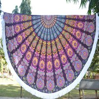 Yoga Mat Bohemian Hippie Beach Towel Table Mat Roundie