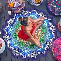 Bohemian Hippie Roundie Yoga Mat Round Tapestry