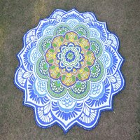 Hippie Hippy Roundie Beach Towel Mat Wall Decor Home Textile Round Tapestry