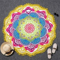 Cotton Fabric Yoga Mat Home Textile Beach Towel Round Tapestry Roundie