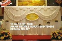 Fancy wedding stage parda design cloth