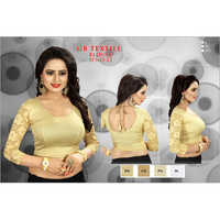Ladies Lace Sleeves Designer Blouse