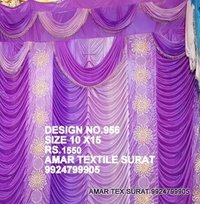 Wedding stage parda cloth