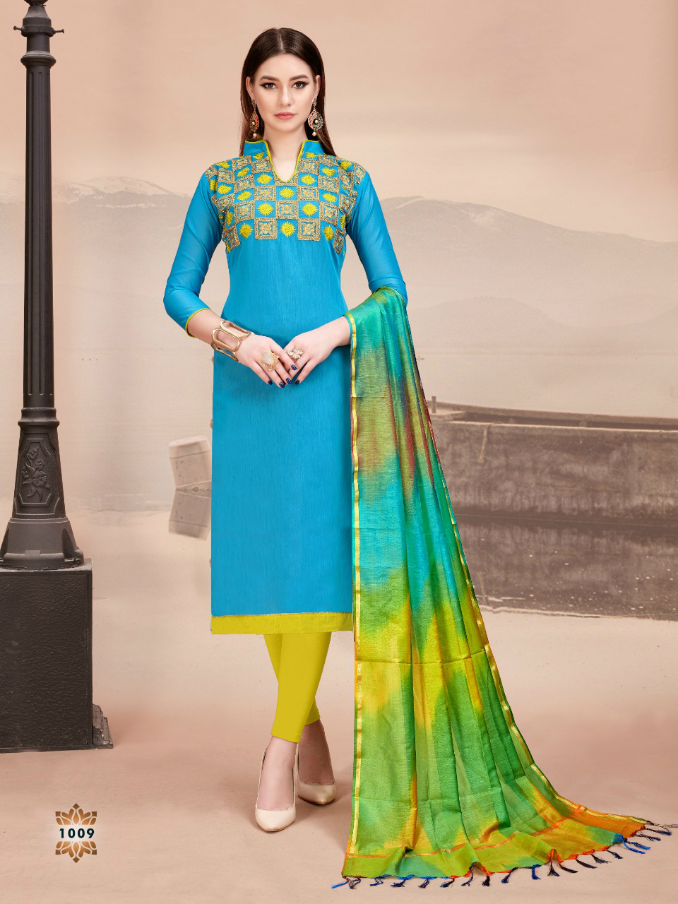 Latest Collection Embroidery Work Cotton Suit