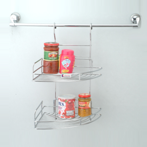 Steel kitchen Corner Rack And Shelf
