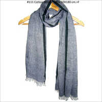 Men Cotton Grey Scarves