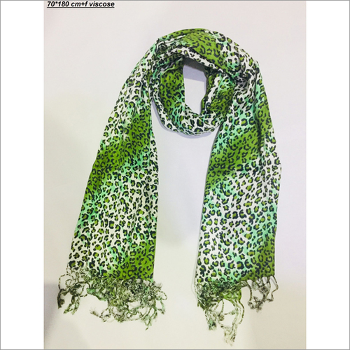Green Animal Printed Stole
