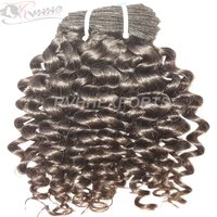 100% Indian Human Wave Curly Natural Remy Extension Hair