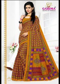 Garima Cotton Printed Saree Catalog
