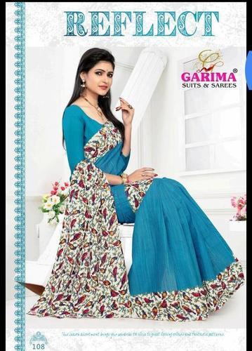 Latest Cotton Printed Sarees Catalog