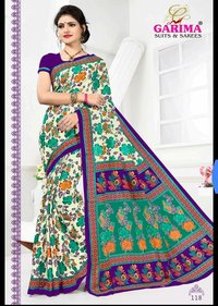 Latest Cotton Printed Sarees Catalog