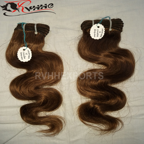 Indian Human Body Wave Natural Remy Extension Hair