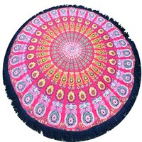 100% Cotton Indian Beach Towels Bohemian Handmade Roundie