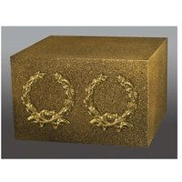 Two Bright Gold Wreaths Companion Urn