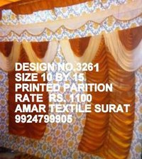 Latest decoration parda cloth