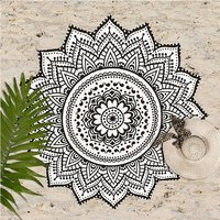 Bohemian Hippie Indian 100% Cotton Mandala Beach Towel Tapestry