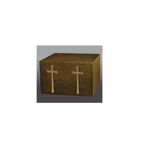 Venetian II with Two Bronze Atlantic Crosses Urn
