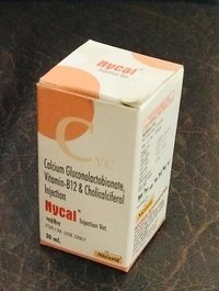 CALCIUM GLUCONOLACTOBIONATE  VITAMIN-B12 & CHOLICACIFEROL NYCAL