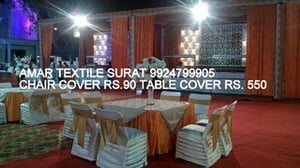 Table and chair covers for weddings