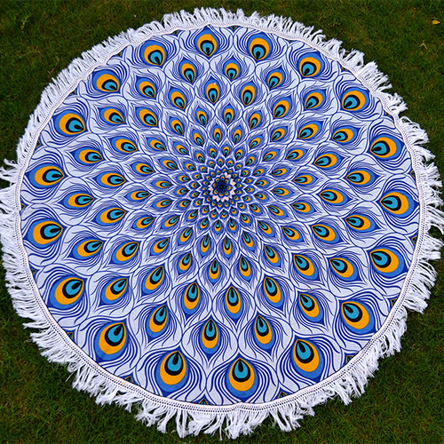 Bohemian Boho Hippie Yoga Mat Home Textile Round Tapestry Roundie