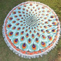 Home Decor Textile Bohemian Beach Towel Handmade Round Tapestry