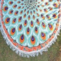 Home Decor Textile Bohemian Beach Towel Handmade Round Tapestry
